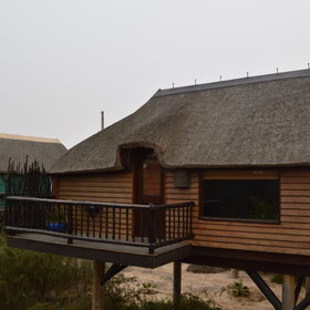 Overlooking the Swakop River, The Stiltz is situated on the edge of the small town of Swakopmund.
