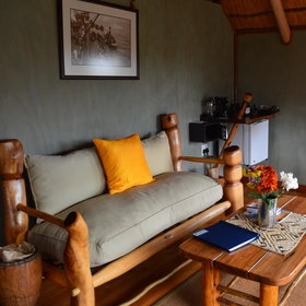 …most chalets have small sofas or sitting chairs and a tea and coffee station.
