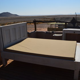 ...and a raised sleep-out deck. You can also request to spend a night under the stars here.