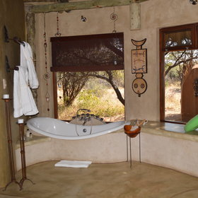 ..and each has a bathtub with a view of the bush..