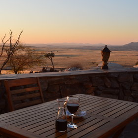 … or outside, where you can enjoy the beautiful landscapes of Namibia…