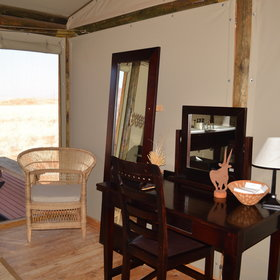 The rooms are beautifully decorated and you can also watch the sunrise from your chalet.