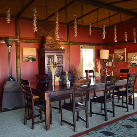 The Wolwedans  Dunes Lodge has two dining rooms, one under cover…