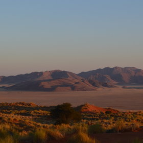 …surrounded by this spectacular desert…