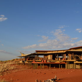 Wolwedans Dunes Lodge set on a ridge…