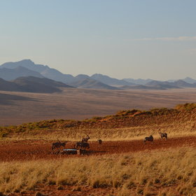 ...offers beautiful views across the NamibRand Nature Reserve.