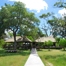 Xaranna Lodge is set amidst intricate waterways in the stunning Okavango Delta.