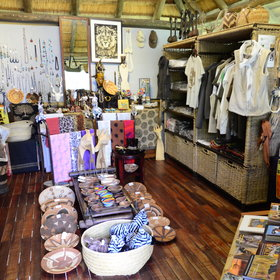 …go through the curio shop selling traditional Okavango crafts…