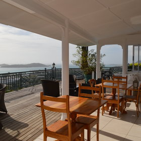 The main area includes has an open terrace with stunning views,…