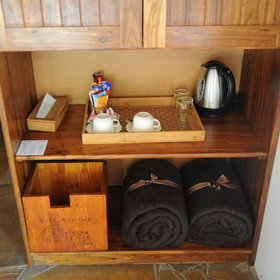 …tea station and a coolbox.