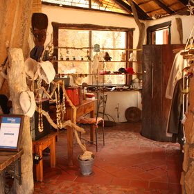 The reception is also a curio shop selling local artifacts.