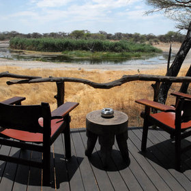 Each chalet has a private balcony, that also overlooks the waterhole.