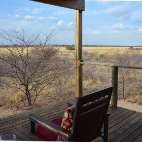 ...overlooking the relatively unexplored wilderness of the surrounding Kalahari plains.