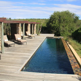 …and take a dip in the lodge's long, narrow infinity pool.