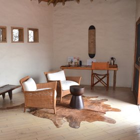 ... a comfortable seating area overlooking the permanent waterhole.