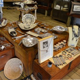 ...browse the well-stocked curio shop and art gallery.