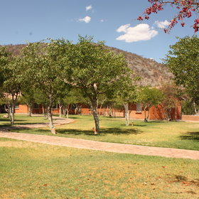 Damara Mopane Lodge is a well-located lodge surrounded by a beautiful garden.