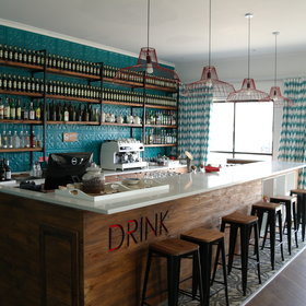 The large and open-plan bar offers a wide range of drinks…