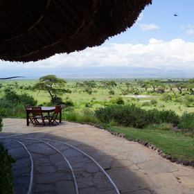 …which is exclusive to Tortilis guests and has great views of Kilimanjaro.