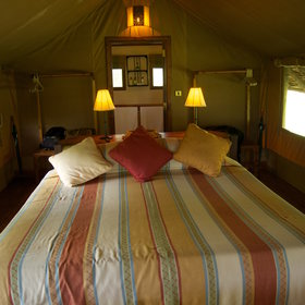 Each en-suite tent includes a large double bed or twin beds.