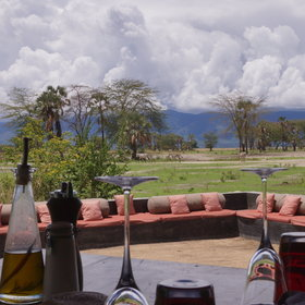 During the meals you can look out over towards Lake Manyara…
