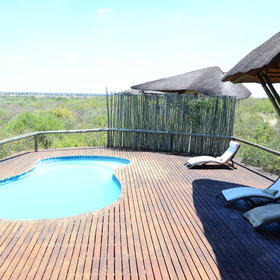 Outside you will find a plunge pool with sunloungers, and a nearby firepit.