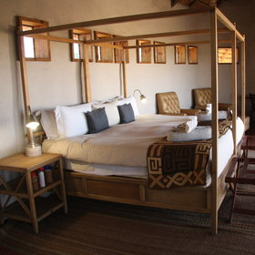 The chalets are spacious with a natural, simple interior.
