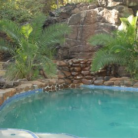 Escape the heat in Tongabezi's swimming pool...