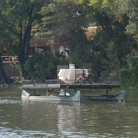 ...or for a special occasion dine out on a private pontoon boat in the Zambezi River.