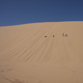 ... to experience the 'roaring' dunes.