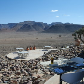 ...and offer beautiful views over the NamibRand.
