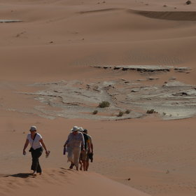 The main excursion from here is to the spectacular dunes at Sossusvlei...