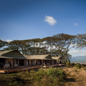 Entamanu is a new tented camp situated on the rim of the Ngorongoro Crater.