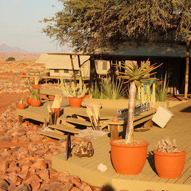 The main area of Wolwedans Dune Camp…