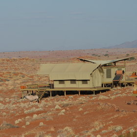 Wolwedans Dune Camp is located amongst the dunes...