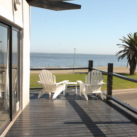 Oyster Box Guesthouse is situated on the Walvis Bay lagoon...