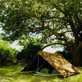 The Rufiji River fly-camp is set up on the shore of Lake Mzizimia for just two to six clients