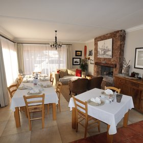 The breakfast room feels cosy and homely.