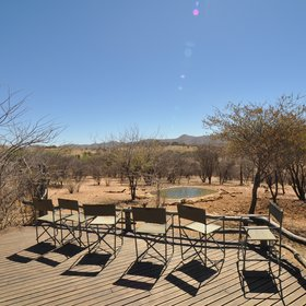 ...a terrace overlooking the waterhole...
