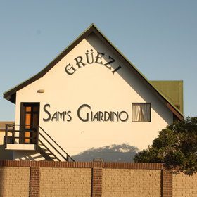 Sams Giardino is reminscent of a Swiss chalet.