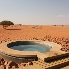 The Private Camp also has a small plunge pool - very welcome in the desert heat...