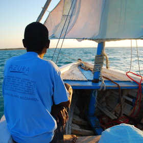 …which you can explore by traditional dhows…