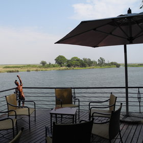 …a veranda with a perfect view of the river,…
