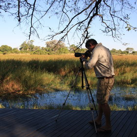 A further deck protrudes from the floodplain where a viewing scope is provided…