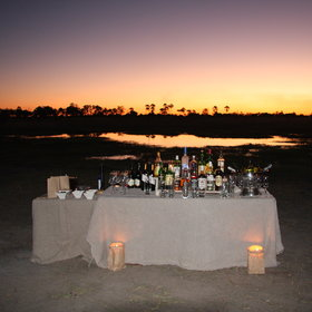 After the walk you can enjoy the beautiful sunset with a drink in your hand.