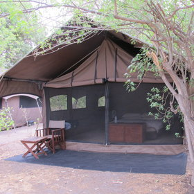 There are five en-suite Meru-style tents.