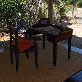On the veranda you will find a writing desk…