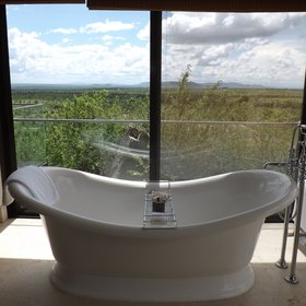 The en-suite bathrooms are luxurious and come with a bath tub...