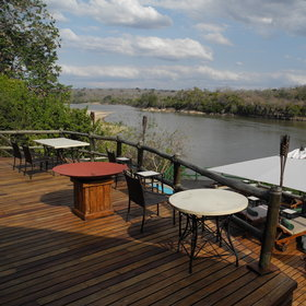 Enjoy a drink in the lounge or on the verandah, both with views over the river.