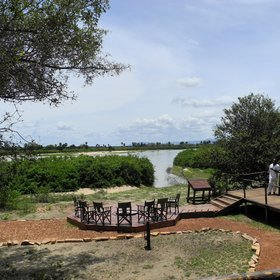 Selous Impala Camp is in a great location overlooking the Rufiji River